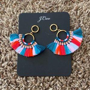 J. Crew Fan Tassel Earrings